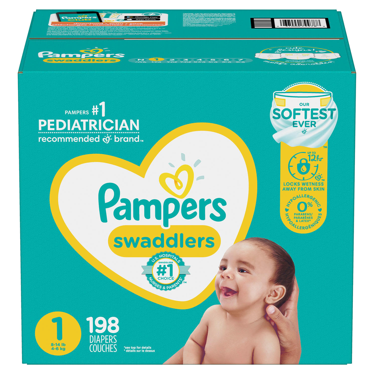 5ed5202b7a6c Pampers Swaddlers Diapers (Choose Your Size) - Sam s Club