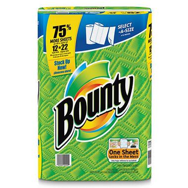 Bounty Select a Size Super Roll Paper Towels 12 Rolls Sam u0027s Club