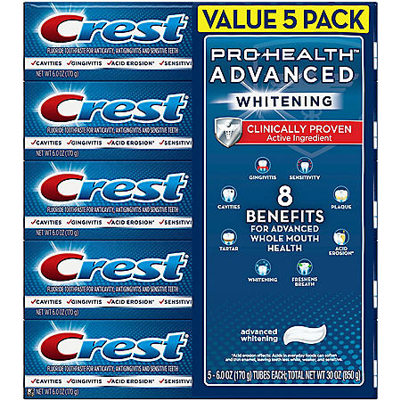 Crest Pro-Health Advanced Whitening Power Toothpaste (6.0 oz, 5ct)