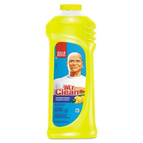 Mr. Clean - Multi-Surface Antibacterial Cleaner, Summer Citrus Scent, 24 oz Bottle -  9/Carton
