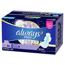 Always Maxi Overnight, Extra Heavy (54 ct.)