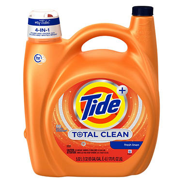 tide liquid he total clean 88 loads 170 oz