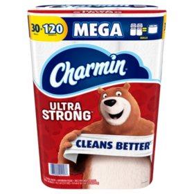 Charmin Ultra Strong Toilet Paper 30 Mega Rolls