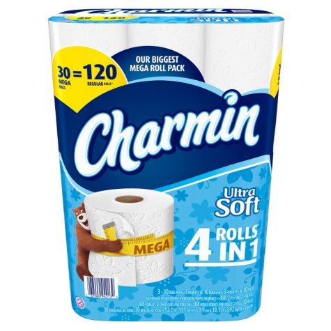 Charmin Ultra Soft Toilet Paper (30 Mega Rolls)