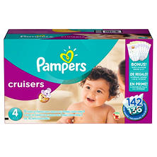Pampers Cruisers Diapers, Size 4 (22 to 37 lbs.) 136-ct.