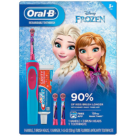 Oral-B Kid's Favorite Disney Character's Electric Toothbrush and Crest Sparkle Fun Toothpaste (Choose Your Character)