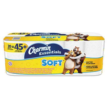 bathroom tissue. Charmin Essentials Soft 2-Ply Bathroom Tissue (200 Sheets Per Roll, 20 Rolls