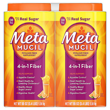 Metamucil Orange Fiber Supplement, Smooth Powder (260 doses)