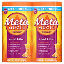 Metamucil Sugar Free Orange Smooth Fiber Powder (260 doses)