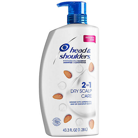 Head & Shoulders 2-n-1 Dandruff Shampoo & Conditioner, Dry Scalp Care (43.3 fl. oz.)