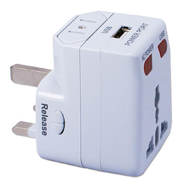 World Power Travel AC Adapter Kit with USB and Surge Protection