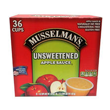 Musselman's Unsweetened Applesauce (4 oz. cups, 36 ct.)