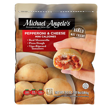Michael Angelo's Pepperoni and Cheese Mini Calzones (31 oz., 42 ct.)