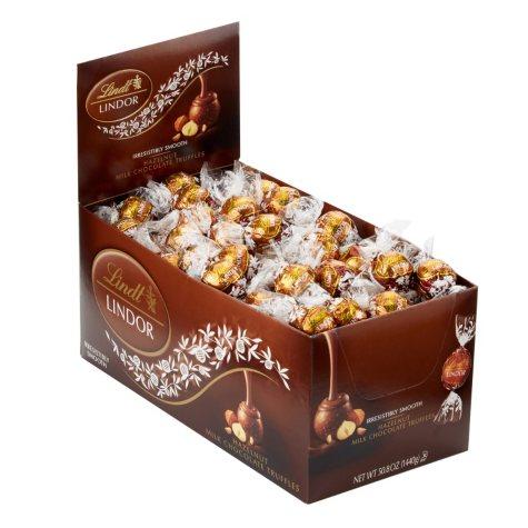 Lindt LINDOR Truffles, Hazelnut (120 ct. box)