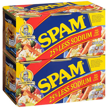 Spam Less Sodium (12 oz., 6 pk.)