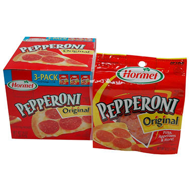 Hormel Pepperoni Original - 6 oz. - 3 pk.