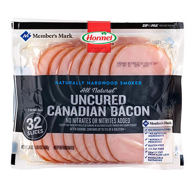 Member's Mark Uncured Canadian Bacon (12 oz. pkg, 2 pk.)
