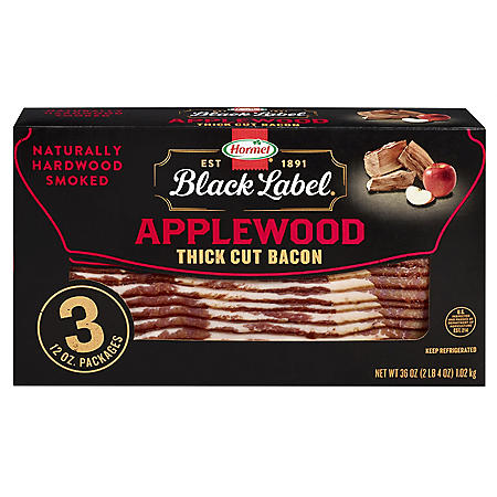 Hormel Black Label Applewood Bacon (12 oz., 3 pk.)