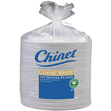 Chinet® Classic White™ Dinner Plates - 145 ct.  sc 1 st  Samu0027s Club & Chinet® Classic White™ Dinner Plates - 145 ct. - Samu0027s Club