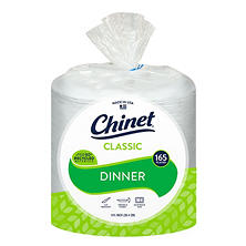 "Chinet Classic White 10-3/8"" Dinner Plates (165 ct.)"