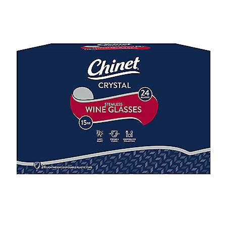 Chinet Stemless Plastic Wine Glasses (48 ct., 2 pk.)
