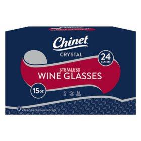 Chinet Stemless Plastic Wine Glasses (24 ct.)