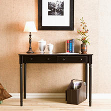 Scripts 2-Drawer Writing Desk, Black