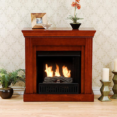 Hartford Petite Gel Fuel Fireplace Mahogany Sam S Club