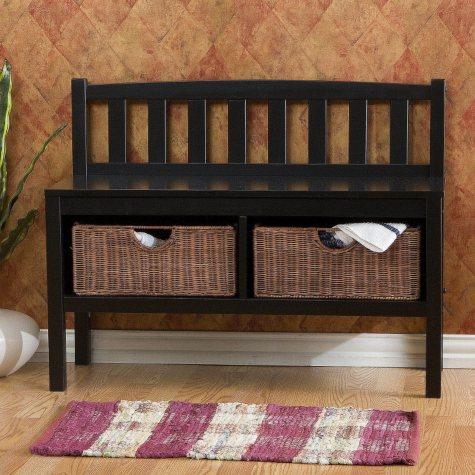 Black Window Sash Bench