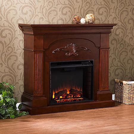Valencia Electric Fireplace - Mahogany