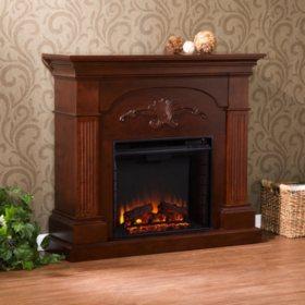 Valencia Electric Fireplace Mahogany