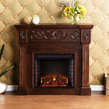 Del Ray Electric Fireplace Espresso Sam S Club