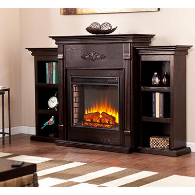 emerson electric fireplace choose color - Fake Fireplaces