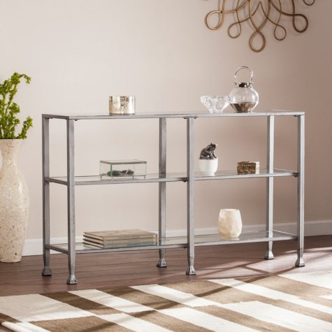 Bakerton 3-Tier Media Stand (Assorted Colors)
