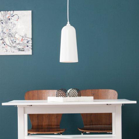 SEI Junius White Contemporary Pendant Lamp