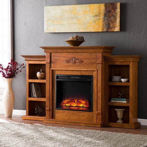 Emerson II Electric Fireplace (Assorted Colors)