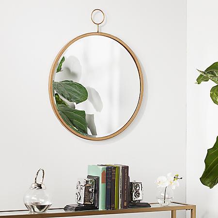 Lilac Wall Mirror, Antique Bronze