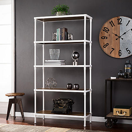 Silva  5-Tier Bookcase, White