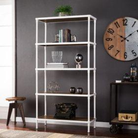 Silva 5 Tier Bookcase White