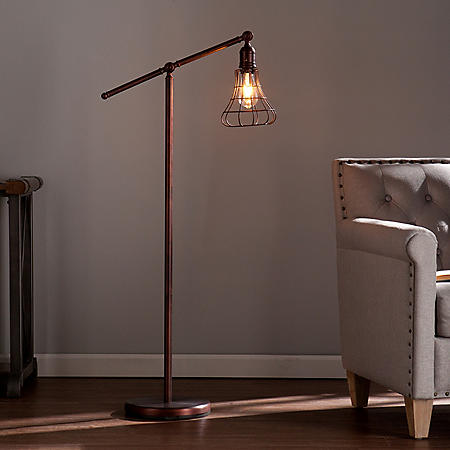 Ajax Accent Floor Lamp with Edison-style LED Bulb
