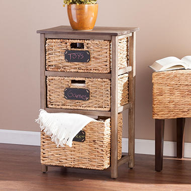 Elsa Coastal 3-Drawer Storage