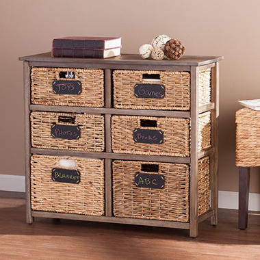 Elsa Coastal 6-Drawer Storage