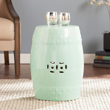 Chatto Ceramic Accent Table/Stool, Seafoam Green