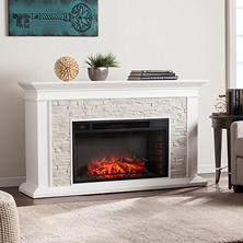Cumberland Electric Fireplace, White