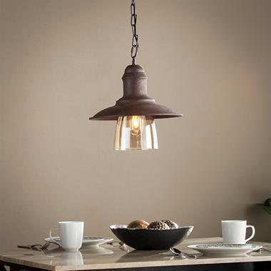 Virgo Metal and Glass Bell Pendant Light & Virgo Metal and Glass Bell Pendant Light - Samu0027s Club