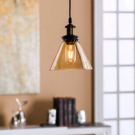 Melody Glass Mini Pendant-Amber