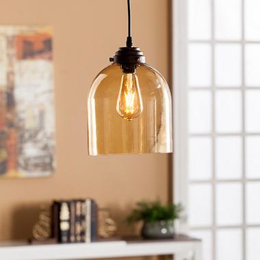 Chalice Glass Mini Pendant Lamp Amber Sam S Club