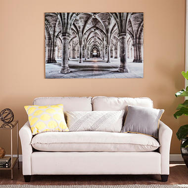 Gothic Arches Floating Glass Wall Art