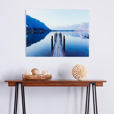 Silent Dock Floating Glass Wall Art