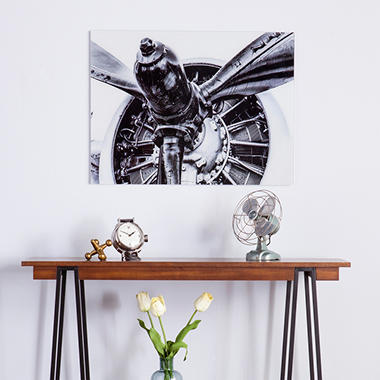 Vintage Aircraft Floating Glass Wall Art